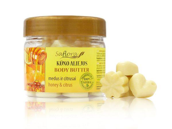 Kūno aliejus medus ir citrusai