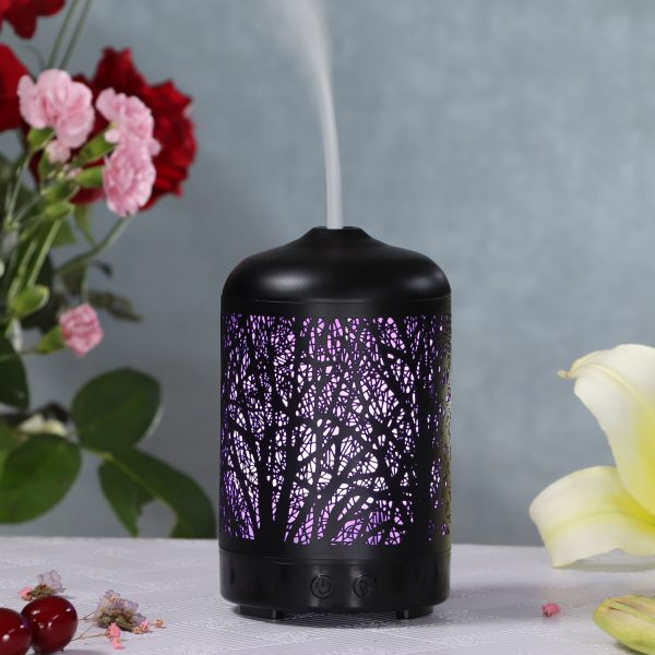 MIŠKAS Black Metal Cover Essential Oil Diffuser